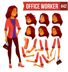 Office worker woman professional officer vector