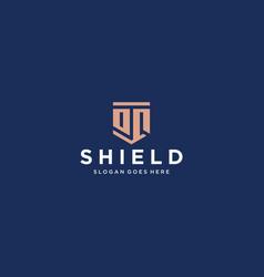 oq dq shield logo vector image