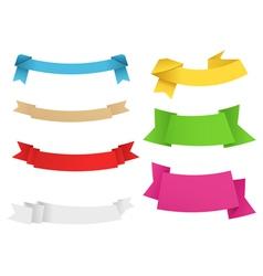 origami ribbons vector image