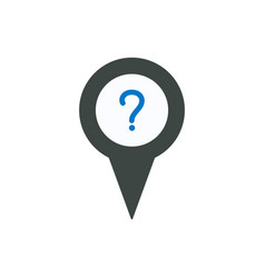 pin icon with question sign symbol vector image