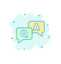 Question and answer icon in comic style vector
