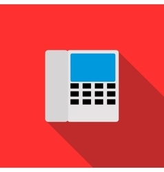 Radiotelephone icon in flat style vector