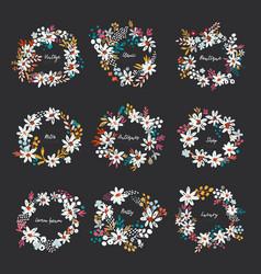 set nice wreath vector image