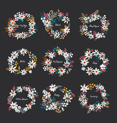 set of nice wreath vector image