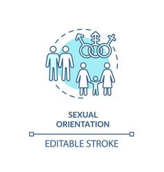 Sexual orientation concept icon vector