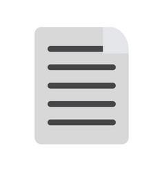 sheet bent corner vector image