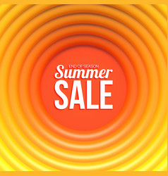 summer sale banner abstract background with hot vector image