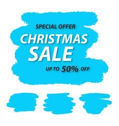super christmas sale tag vector image