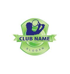 tennis logo vector image