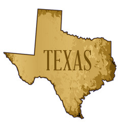Texas map parchment background vector