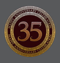 thirty fifth anniversary celebration logo symbol vector image