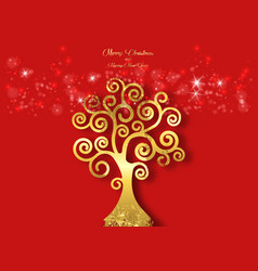 Tree life christmas and happy new year theme vector