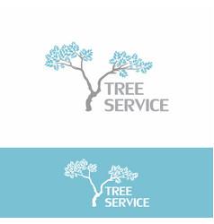 tree service landscape vintage logo vector image