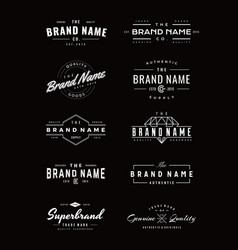 Vintage logo insignia and badges vector