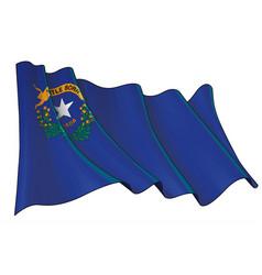 Waving flag state nevada vector