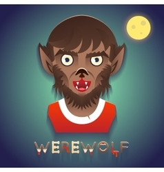 Werewolf Avatar Role Character Bust Icon Halloween vector