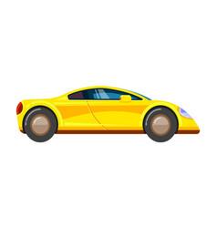 Yellow race car racing rally vehicle speed vector
