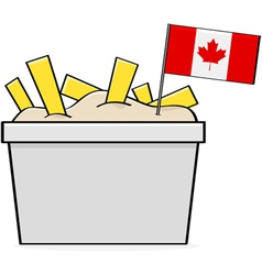 Canadian poutine vector image