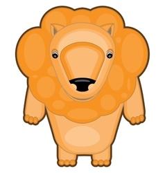 cartoon of a baby lion vector image