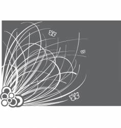 floral border graphic vector image vector image