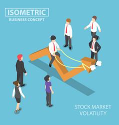 isometric businessman riding skittish stock vector image vector image