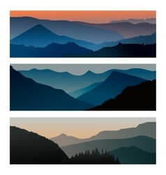 Mountains sunrise and mountains sunset horizontal vector image vector image
