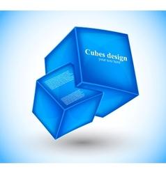 3d blue cubes vector image