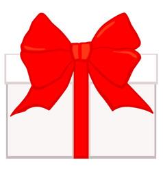 cartoon gift box icon poster vector image