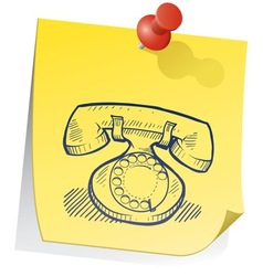 doodle sticky note phone retro vector image