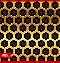 honeycomb pattern in golden color vector image