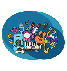 music design set vector image