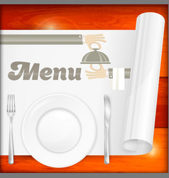 served table with menu vector image