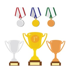 Sport award set vector image