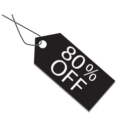 80 percent tag on white background 80 percent tag vector