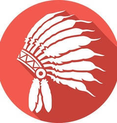 American Indian Chief Hat Icon vector image vector image