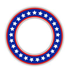 american patriotic round frame icon vector image vector image