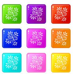 bacteria set 9 vector image