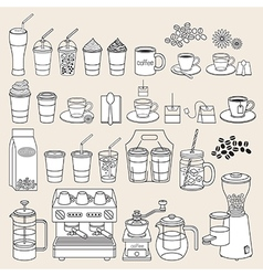 Coffee doodle icon style vector image vector image