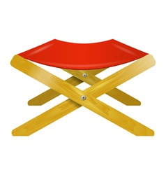Folding wooden chair with red seat vector image vector image