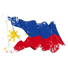 Philippines Flag Grunge vector image