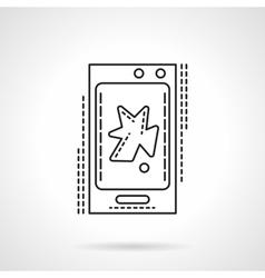Phone video app flat line icon vector image