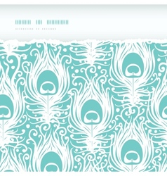 Soft peacock feathers horizontal torn seamless vector image vector image
