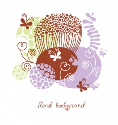 stylized floral frame greeting card vector image vector image
