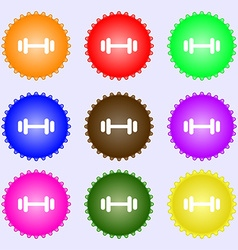 barbell icon sign Big set of colorful diverse vector image vector image