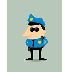 Cartoon plice officer vector image vector image