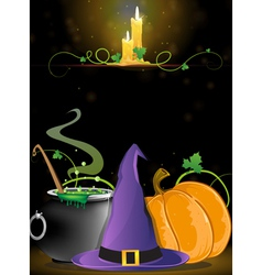 Halloween Witch supplies vector image vector image
