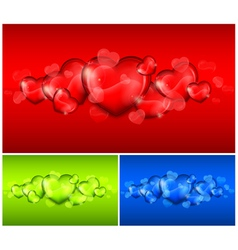hearts color background 10 v vector image vector image