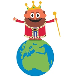 King of the World vector image vector image