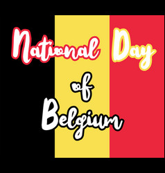 national day of belgium vector image vector image