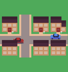 pixel art neighborhood vector image